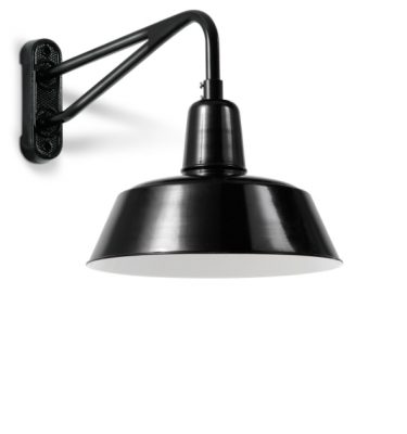 Disse væglamper er i sorte og hvide farver i aluminium.