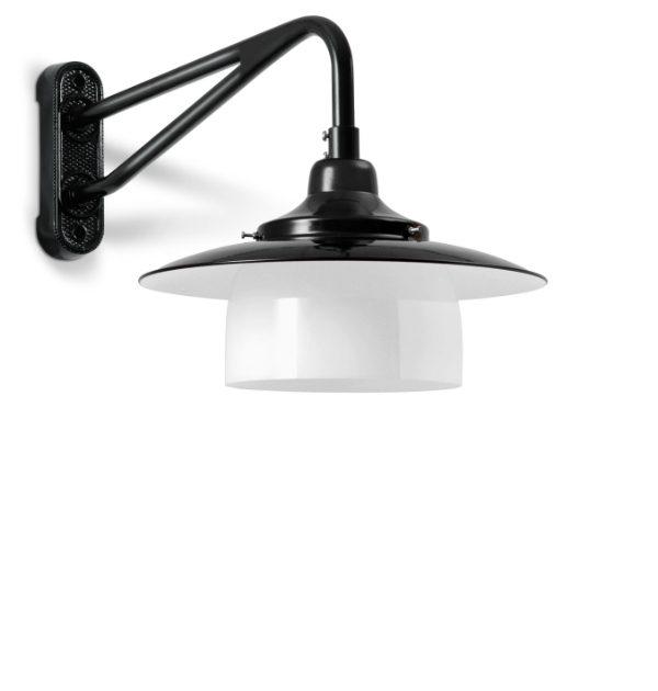 Disse væglamper med ring er i sorte og hvide farver.