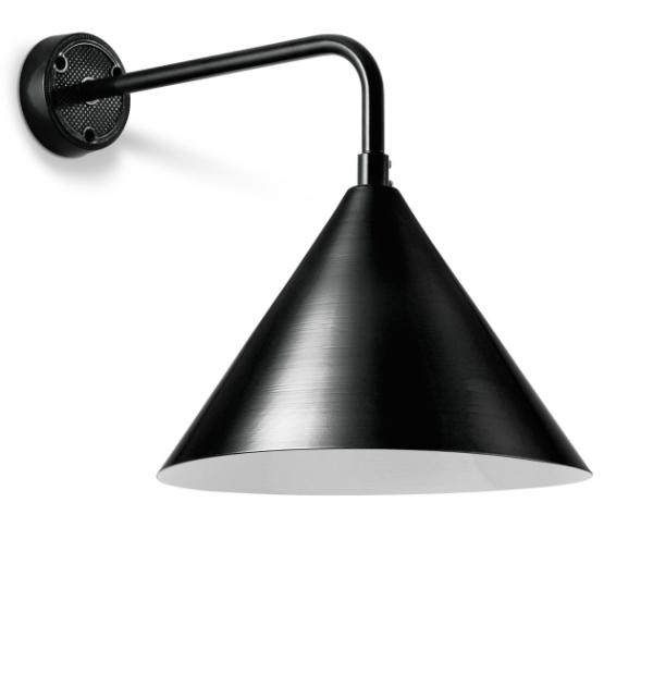 Disse væglamper er i sorte og hvide farver